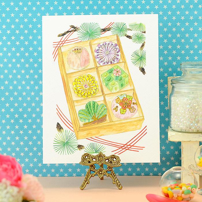 ビーズファクトリー 〜Beads Decor〜迎春の和菓子(1月) ※額は別売り BHD-105
