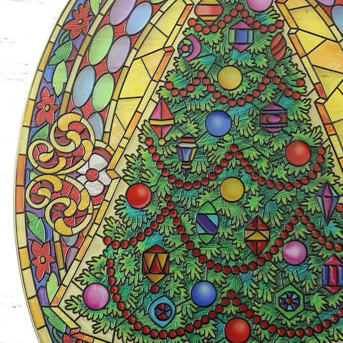 ステンドグラス サンキャッチャー おしゃれ 壁掛け Vintage Christmas  42528LO