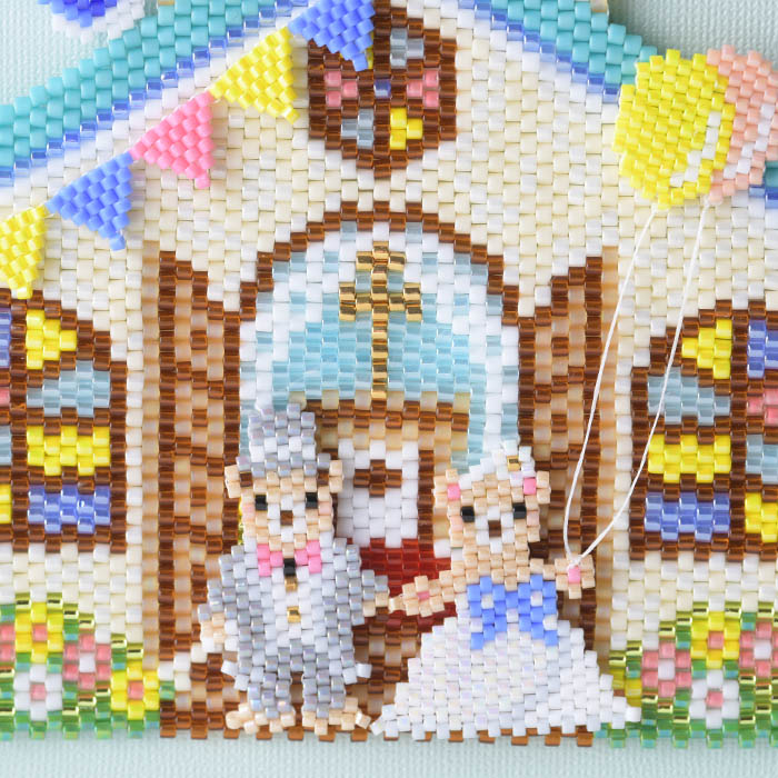 ★5/12 NEW★ ステッチタペストリー〜ウエディング〜  ビーズマニア