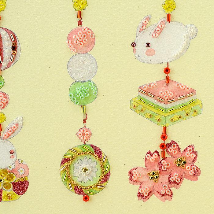 ビーズファクトリー 〜Beads Decor〜桃の節句と吊るし飾り(3月) ※額は別売り BHD-107
