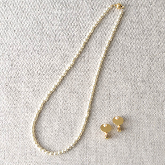 ★5/13 NEW★ A Little Kit for Handcraft バロックパールネックレス&プレートイヤリング  HCA1