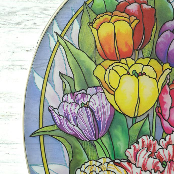 ステンドグラス サンキャッチャー おしゃれ 壁掛け Tulip Tempo  6410LO