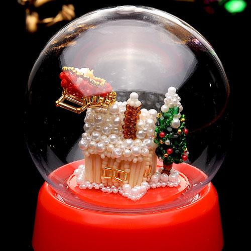スノードーム〜White Christmas〜  ビーズマニア
