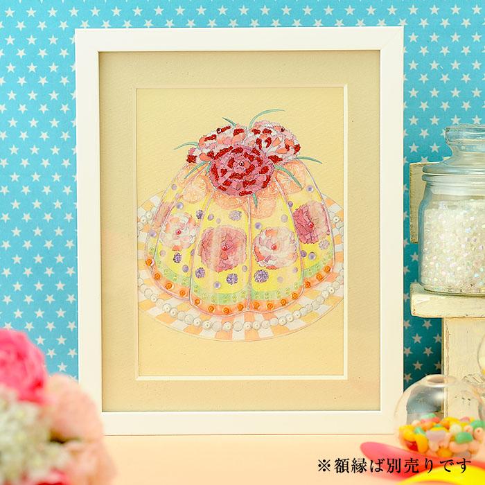 ビーズファクトリー 〜Beads Decor〜カーネーションのババロア(5月) ※額は別売り BHD-109