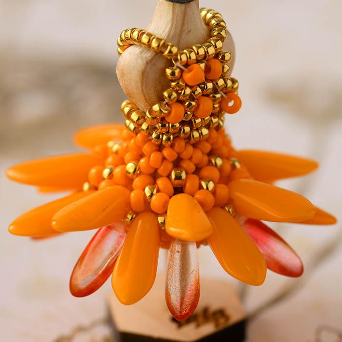 ビーズステッチで作るハニカムトルソードレス〜ナターリア・オレンジ〜 【作家:漆原昌美(Mai My Beads)】