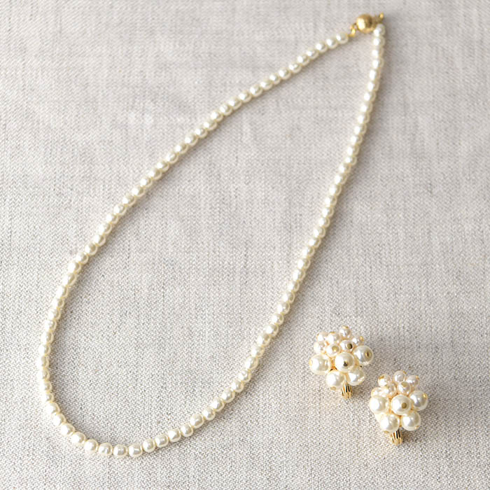 ★5/13 NEW★ A Little Kit for Handcraft バロックパールネックレス&フラワーイヤリング  HCA2