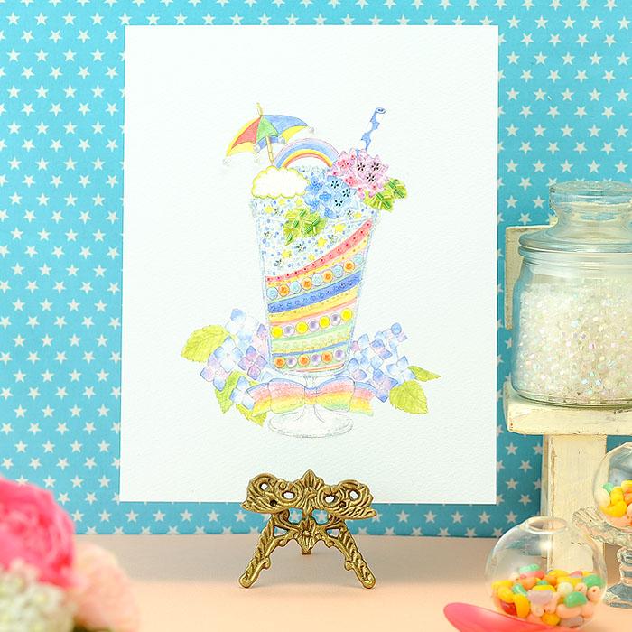 ビーズファクトリー 〜Beads Decor〜雨上がりのフローズンドリンク(6月) ※額は別売り BHD-110