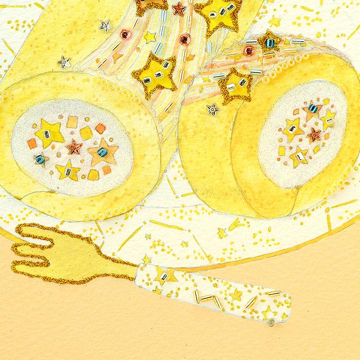 ビーズファクトリー 〜Beads Decor〜七夕のロールケーキ(7月) ※額は別売り BHD-111