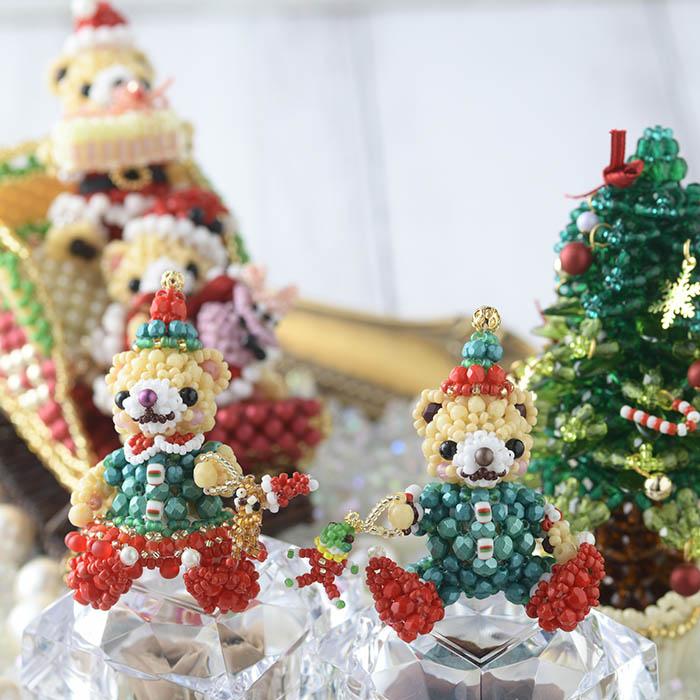 テディベアシリーズ〜クリスマスパーティー・男の子〜  ビーズマニア