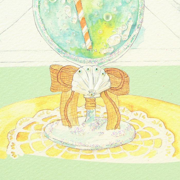 ビーズファクトリー 〜Beads Decor〜窓辺のクリームソーダ(8月) ※額は別売り BHD-112