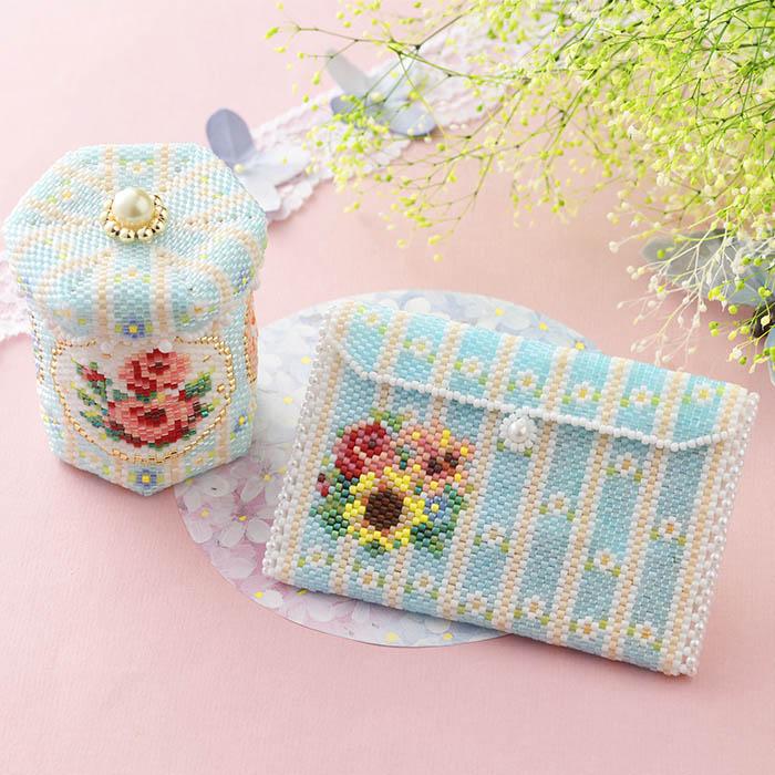 ステッチボックス〜Summer flowers〜   ビーズマニア