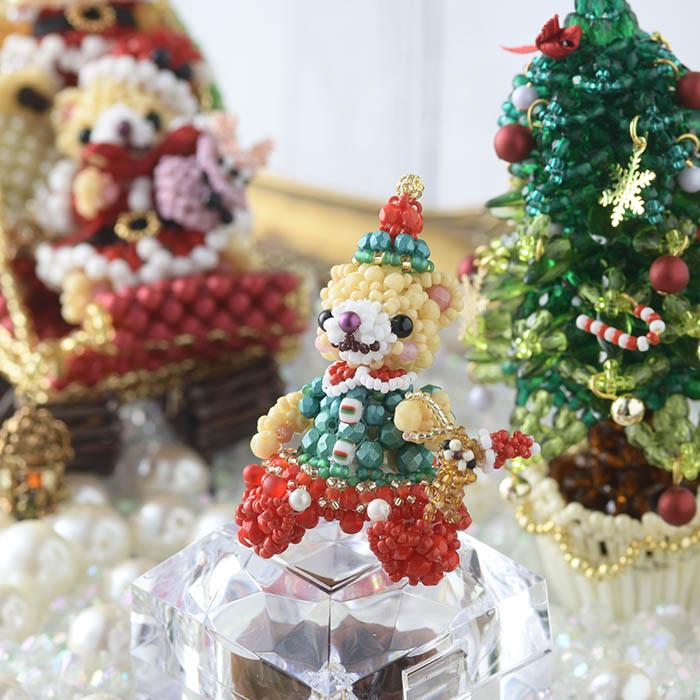 テディベアシリーズ〜クリスマスパーティー・女の子〜  ビーズマニア