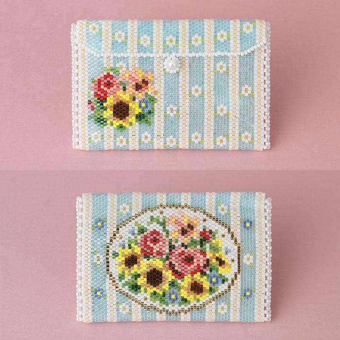 小物入れ〜Summer flowers〜   ビーズマニア