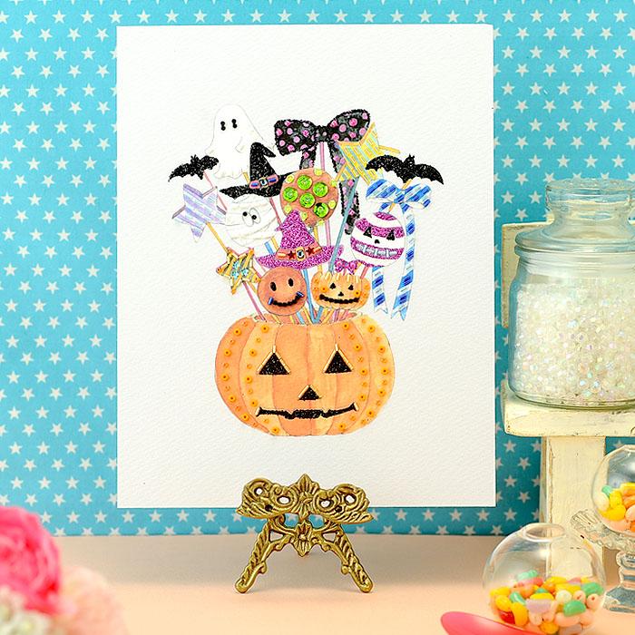 【現在庫分☆限定SALE中】 ビーズファクトリー 〜Beads Decor〜ハロウィンキャンディー(10月) ※額は別売り BHD-114
