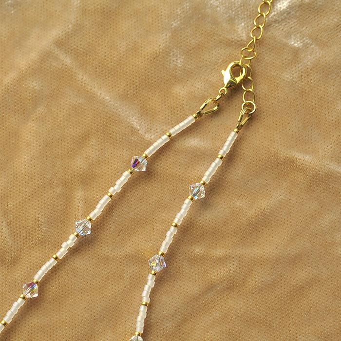 スノーフレーク(金) 【作家:漆原昌美(Mai My Beads)】