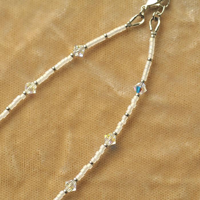 スノーフレーク(銀)  【作家:漆原昌美(Mai My Beads)】