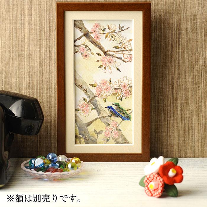【現在庫分☆限定SALE中】 ビーズファクトリー 〜Beads Decor〜山桜・ルリビタキ(4月) ※額は別売り BHD-120W