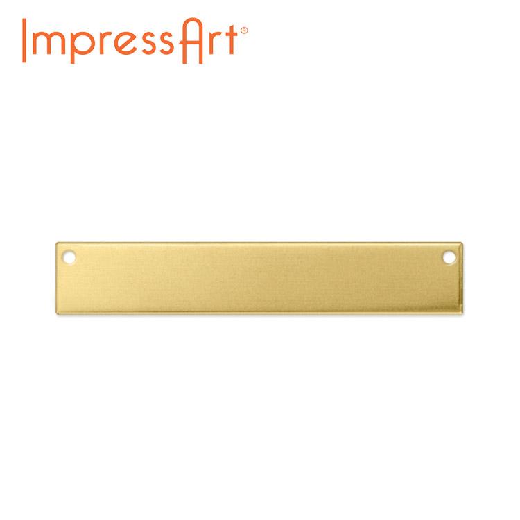 ネームタグ 刻印 名入れ インプレスアート レクタングル 真鍮 約6×38mm U3024//1