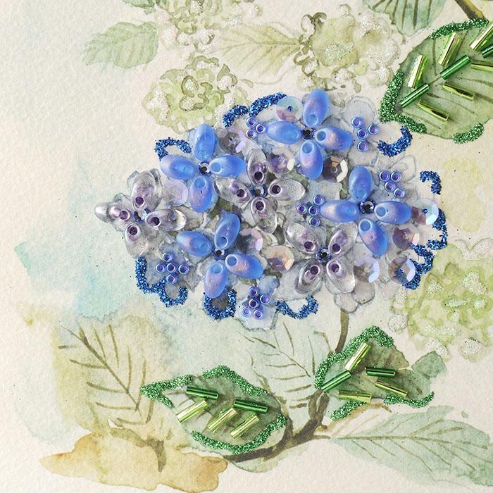 ビーズファクトリー 〜Beads Decor〜紫陽花・ツバメ(6月) ※額は別売り BHD-122W