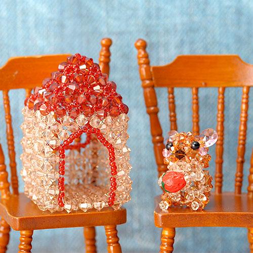 ナキウサギとお家セット  【作家:ちばのぶよ】