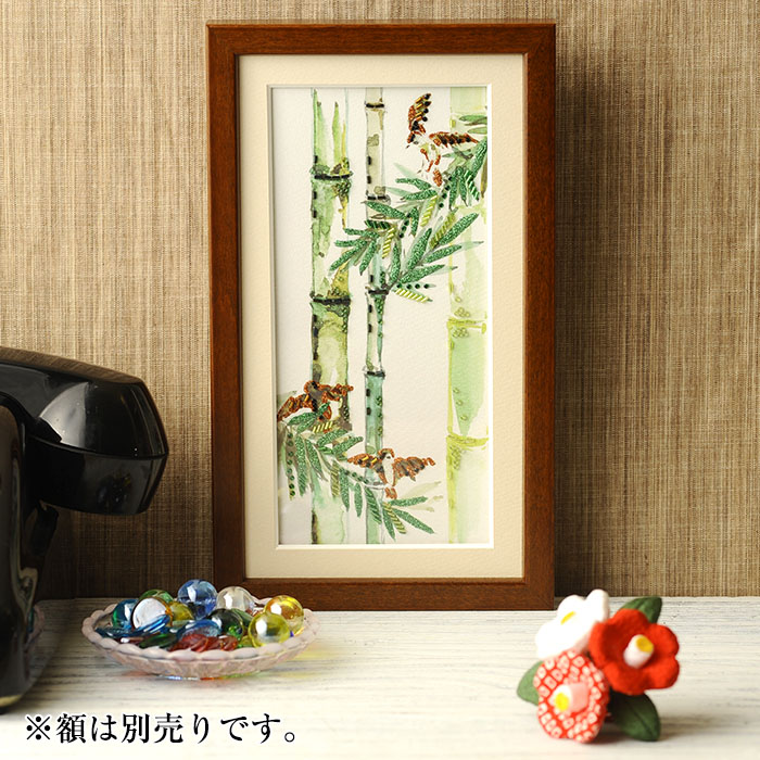 ビーズファクトリー 〜Beads Decor〜竹・スズメ(7月) ※額は別売り BHD-123W