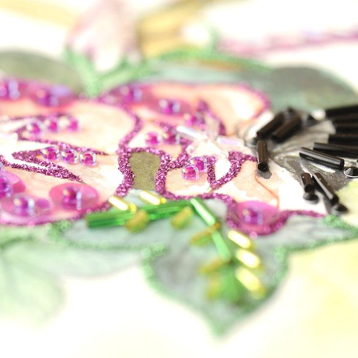 ビーズファクトリー 〜Beads Decor〜朝顔・チョウ(8月) ※額は別売り BHD-124W