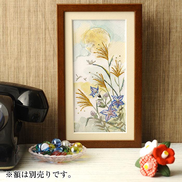 ビーズファクトリー 〜Beads Decor〜桔梗・トンボ(9月) ※額は別売り BHD-125W