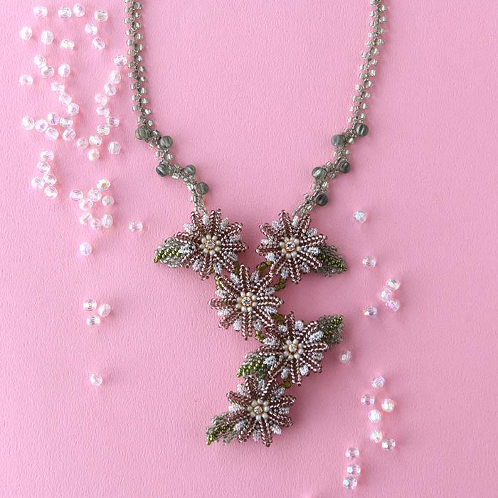 ★7/27 NEW★ Flower motif necklace  【作家:荒木晴美(atelier embellir)】