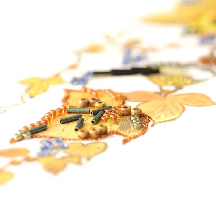 ビーズファクトリー 〜Beads Decor〜蔦・モズ(10月) ※額は別売り BHD-126W