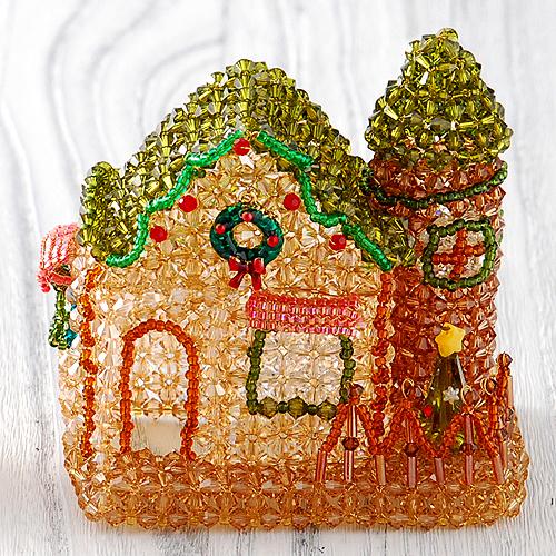 森のパン屋さん・お庭付き〜クリスマス〜LEDライト付き  【作家:ちばのぶよ】