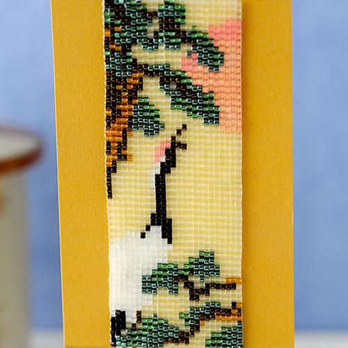 ビーズファクトリー デリカビーズ織り ミニ掛け軸キット〜日本の四季彩〜【鶴】   BHD-98