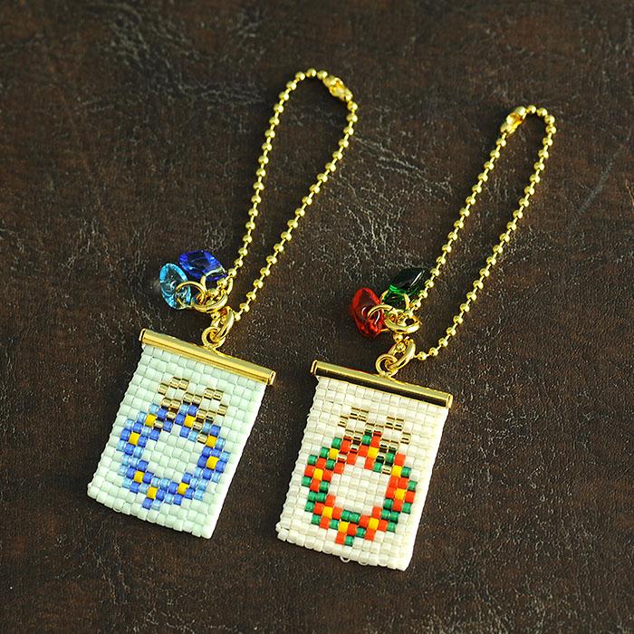 ビーズファクトリー ガーリッシュリースチャーム(クリスマス)〜デリカビーズ織りキット〜  BFK-517
