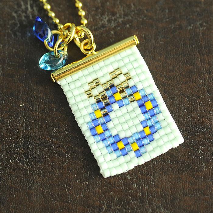ビーズファクトリー ガーリッシュリースチャーム(ブルー)〜デリカビーズ織りキット〜  BFK-518