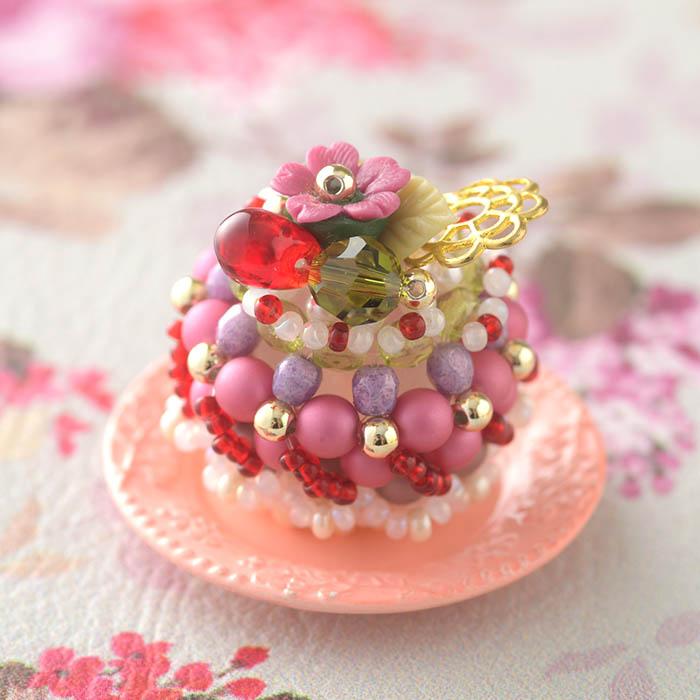 ☆2/25 再入荷☆ カシスとチェリーのケーキ  【作家:NARUMIDO】