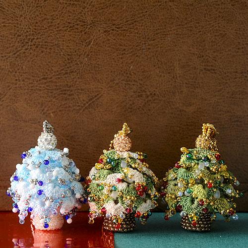 クリスマスツリーチャーム(グリーン) 【作家:芝裕子(Atelier Siva)】