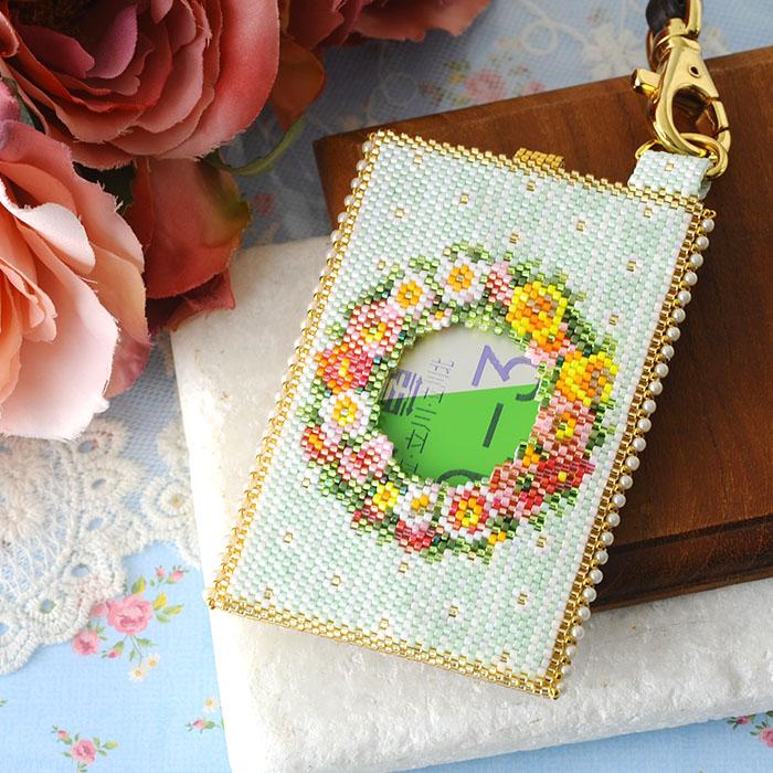 パスケース〜薔薇と蝶〜  ビーズマニア