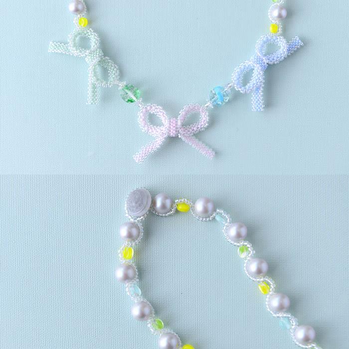 """★2/2 NEW★ 絆のネックレス〜Ribbon〜  【作家:しのはらみわ(Little""""B"""".)】"""