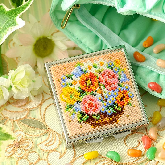 〜花かご〜コンパクトケース