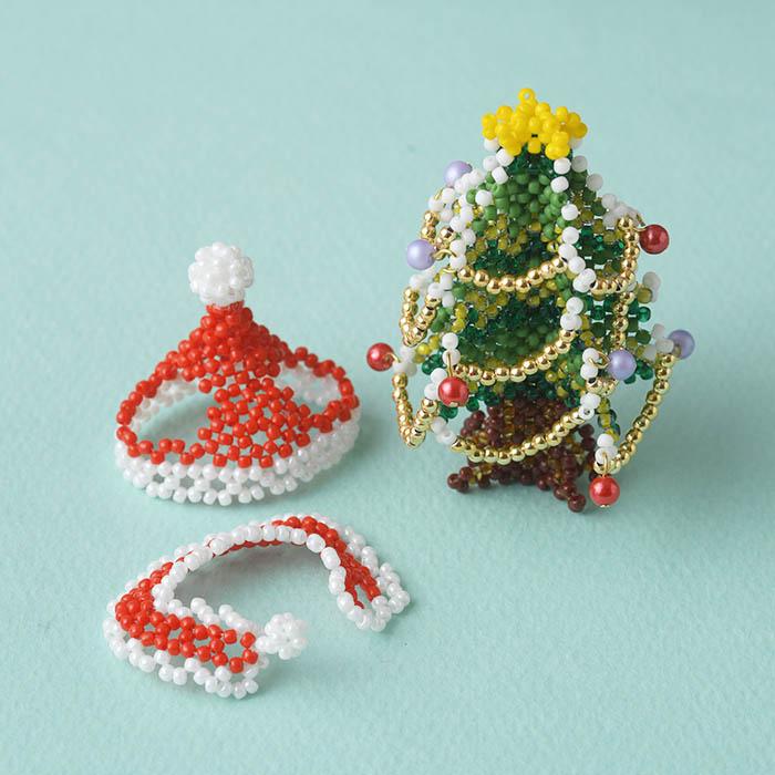 テディベアのお気に入り〜No.5 クリスマスー〜 ビーズマニア