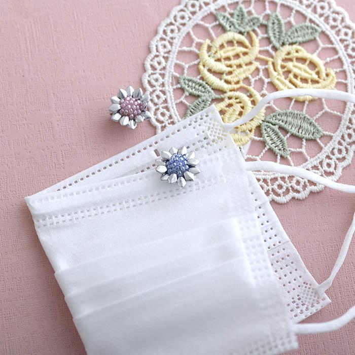 """Petit Flowerマスククリップ(Pink & Blue) 【作家:しのはらみわ(Little""""B"""".)】"""