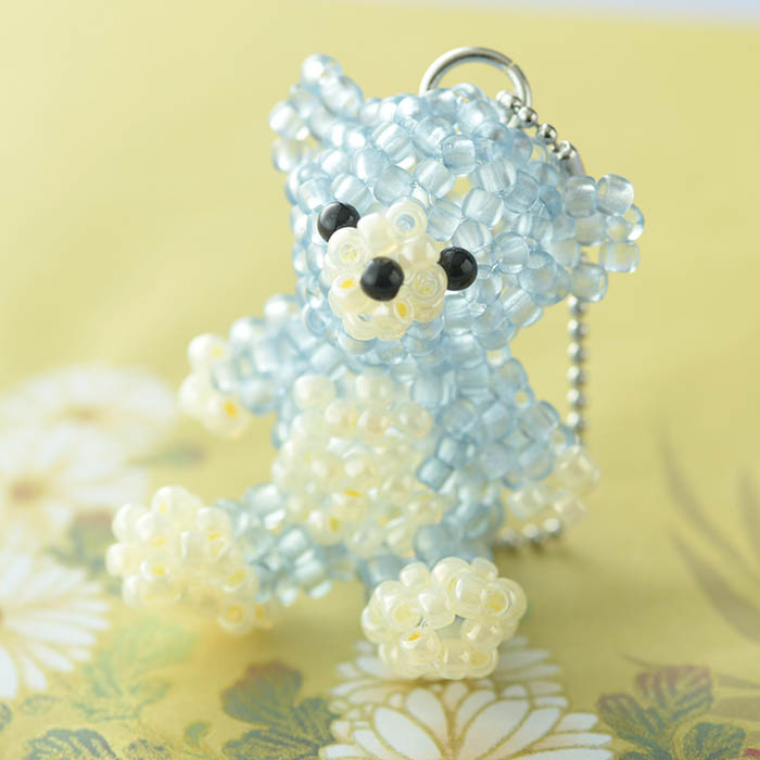 TOHO すくも藍Beadsキットシリーズ〜藍熊(くま)〜  No.3