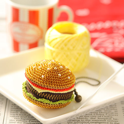 ハンバーガーマカロン(小)  p18600 【作家:芝裕子(Atelier Siva)】
