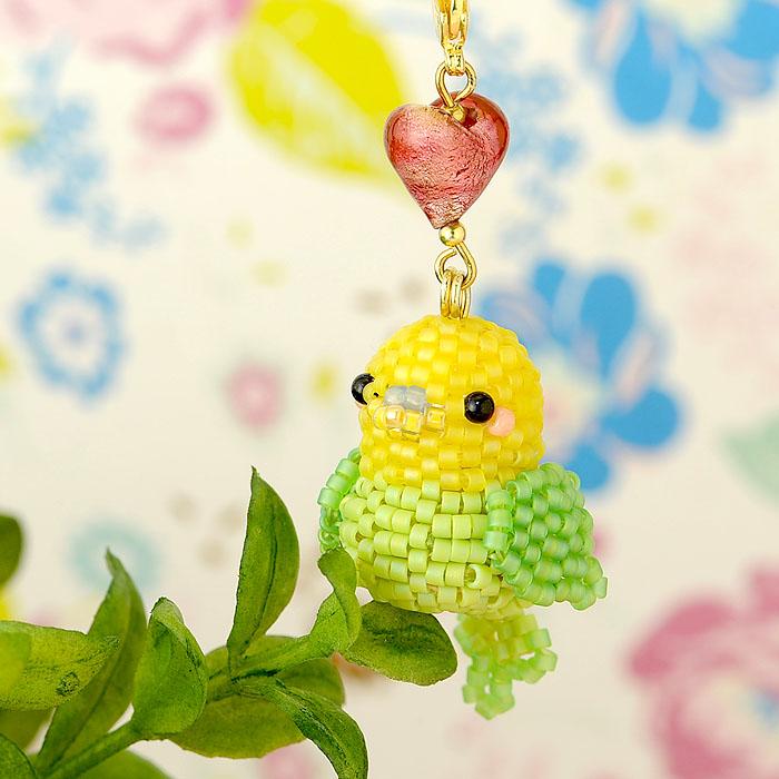 Happy☆Birdストラップ (イエロー&グリーン) S-51a 【作家:Shinon あわいしのぶ】