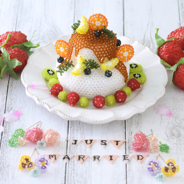 ビーズで編みぐるみ〜ウエディングケーキ〜 ビーズマニア