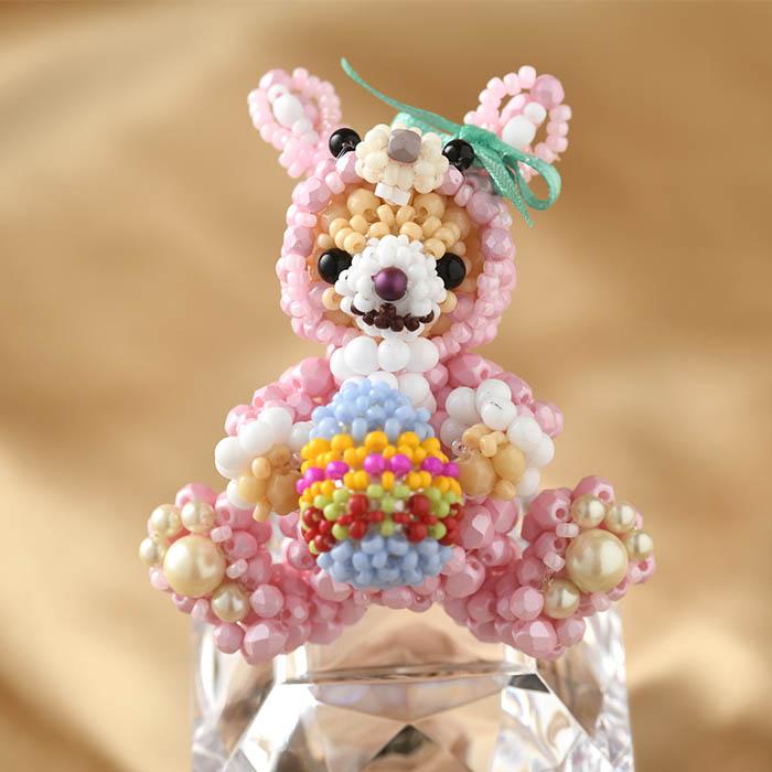 テディベアシリーズ〜着ぐるみウサギちゃん〜  ビーズマニア