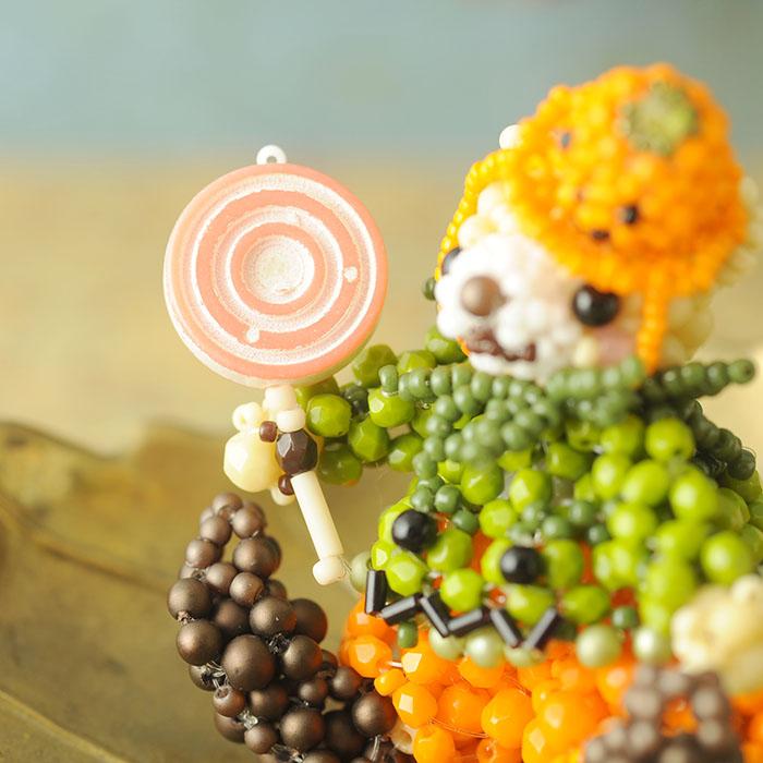 テディベアシリーズ〜ハロウィン・かぼちゃくん〜  ビーズマニア