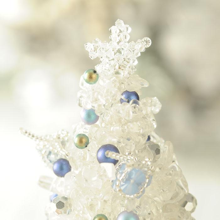 クリスタルブルークリスマスツリー  【作家:渡辺七重(N℃)】