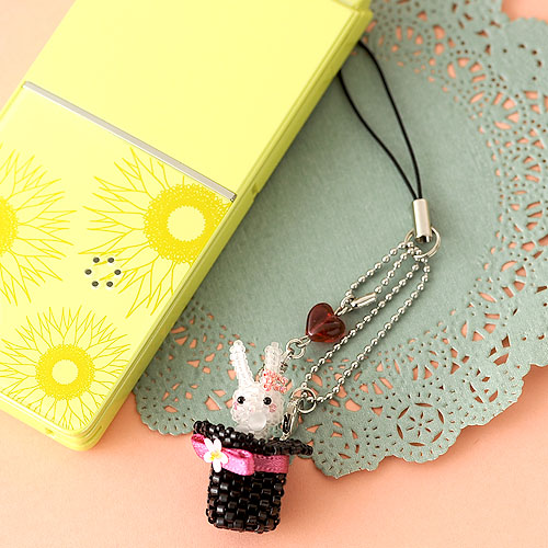 """☆4/19 再入荷☆ Rabbit in the silk hat 〜ピンク〜  【作家:しのはらみわ(Little""""B"""".)】"""