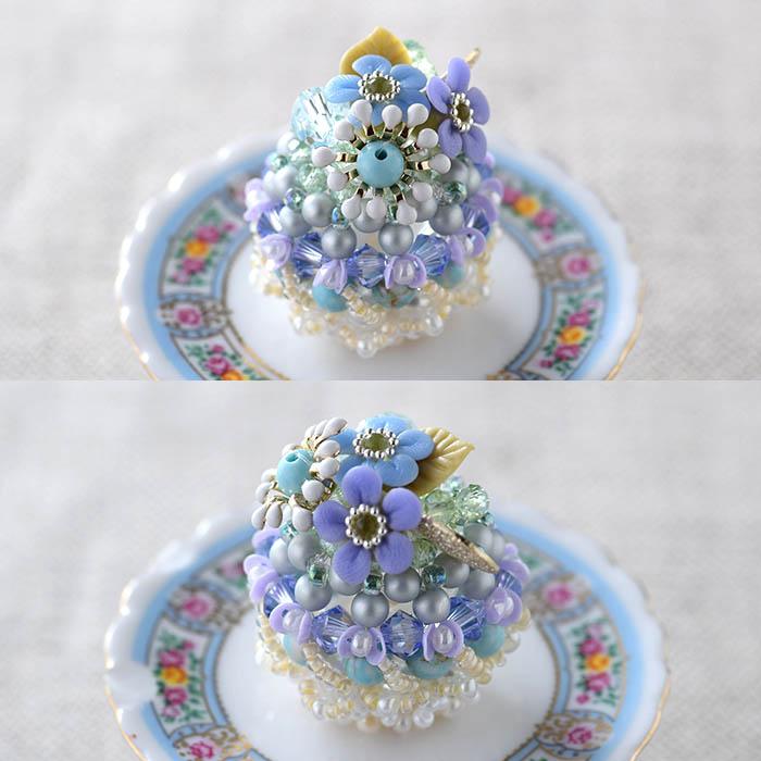 ★5/27 NEW★ 勿忘草のドームケーキ 【作家:NARUMIDO】