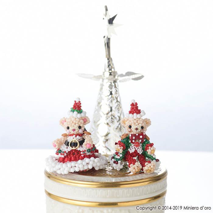 ☆12/22 再入荷☆ パーティーテディベアクリスマスセット〜Noella・Caleb〜  【作家:Miniera d'oro】